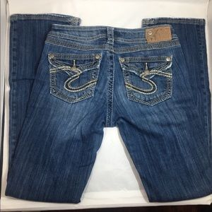 "Silver flap pocket Suki 17"" Surplus Jeans"